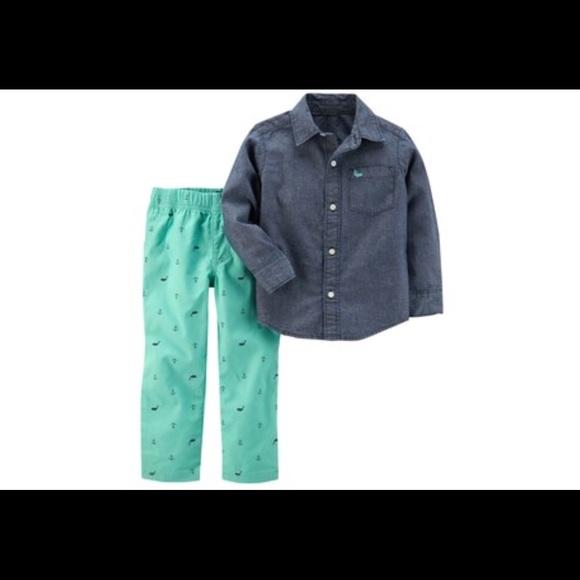 b0666001a Carter's Matching Sets | Toddler Boy Carters Chambray Shirt Pants ...